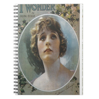 I Wonder Irving Berlin Vintage Piano Sheet Music Notebook