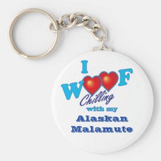 I Woof Alaskan Malamute Key Ring