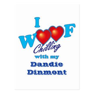 I Woof Dandie Dinmont Postcard