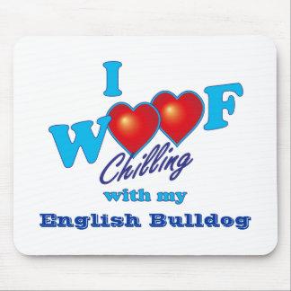 I Woof English Bulldog Mousepad
