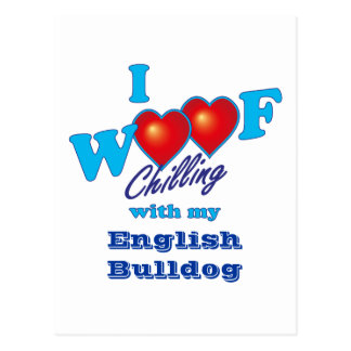 I Woof English Bulldog Postcard