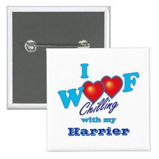 I Woof Harrier Pins
