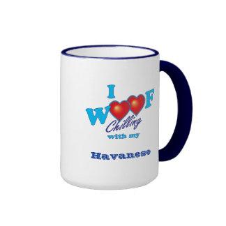 I Woof Havanese Ringer Mug