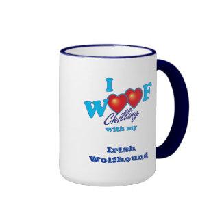 I Woof Irish Wolfhound Ringer Mug