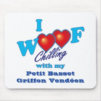 I Woof Petit Basset Griffon Vendeen Mouse Pad