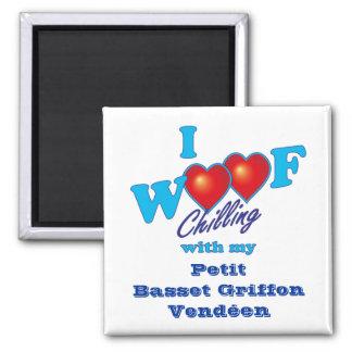I Woof Petit Basset Griffon Vendeen Square Magnet