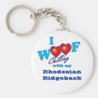I Woof Rhodesian Ridgeback Key Ring