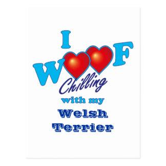 I Woof Welsh Terrier Postcard