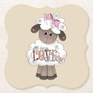 I Wool Always Love Ewe coasters