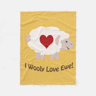 I Wooly Love You! Fleece Blanket