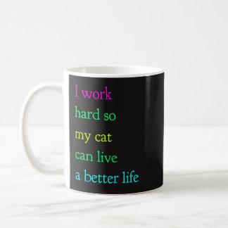 I Work Hard So My Cat Can Live A Better Life Mug