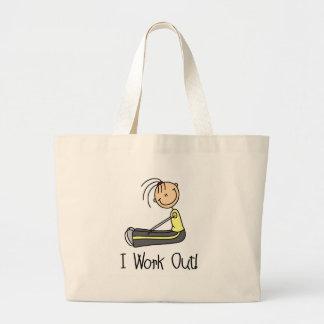I Work Out Stick Figure Bag