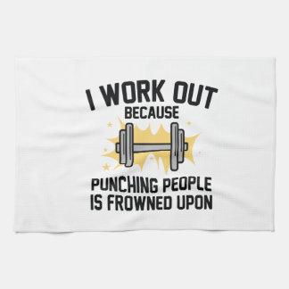 I Work Out Tea Towel