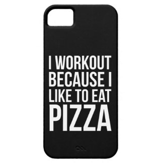 I Workout Because I Like Pizza - Funny Gym Novelty iPhone 5 Cover