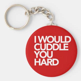 I Would Cuddle You Hard Key Ring