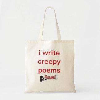 """i write creepy poems"" tote"