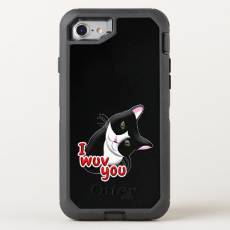I wuv you Cat OtterBox Defender iPhone 8/7 Case