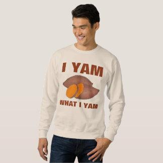 I Yam What I Yam Am Orange Sweet Potato Sweatshirt
