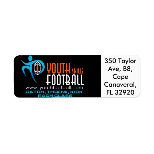 I Youth Football Return Address Label