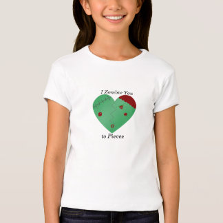I zombie you to pieces zombie heart t-shirts