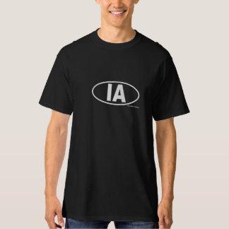 IA Information Architect T-shirt - Black oval logo