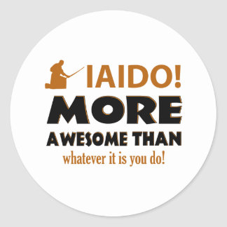 IAIDO DESIGN CLASSIC ROUND STICKER