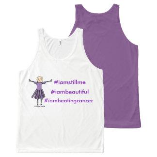 #iamstillme #iambeautiful #iambeating cancer All-Over print singlet