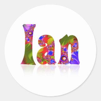 Ian Classic Round Sticker