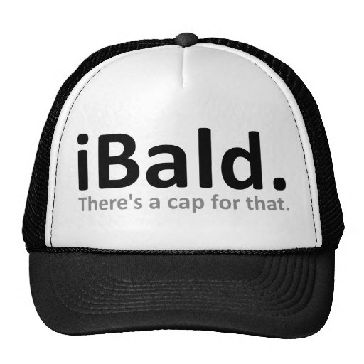 iBald Funny Baseball Cap Hat