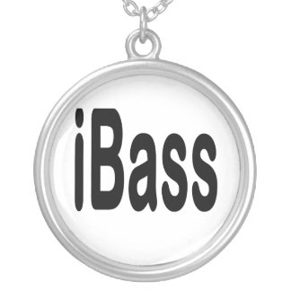 ibass music design black text necklace