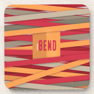 iBend - pattern with awesome laces Drink Coaster