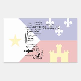 Iberia Parish Cities and Places Cajun Flag Sticker