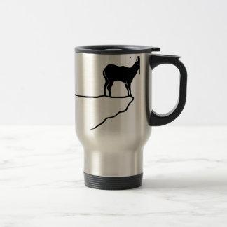 ibex capricorn Capricorn mountain goat sheep climb Travel Mug