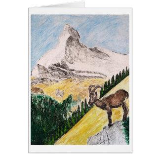 Ibex Overviewing Matterhorn Card