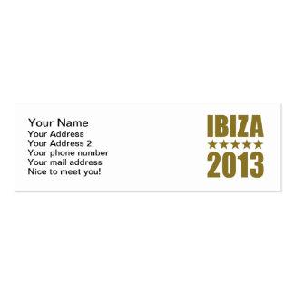 Ibiza 2013 business card templates
