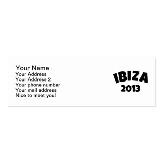 Ibiza 2013 business card