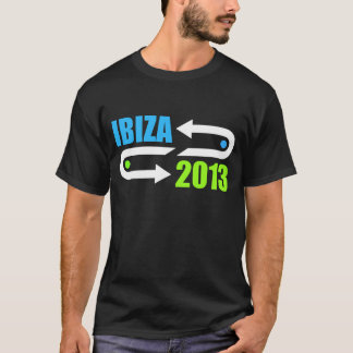 ibiza 2013 design black dj t-shirt