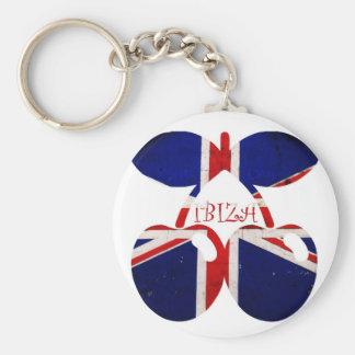 Ibiza Basic Round Button Key Ring