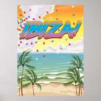 Ibiza beach Party travel poster
