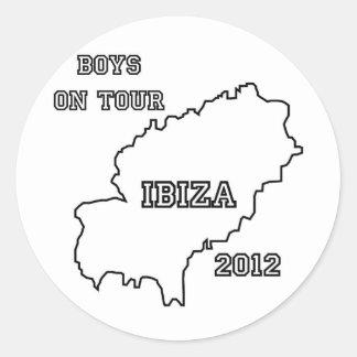 Ibiza - Boys on Tour 2012 Round Sticker