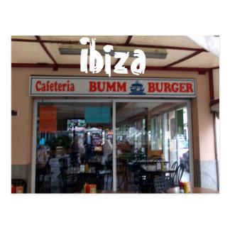Ibiza Bumm Burger Postcard