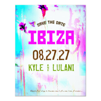 IBIZA Destination Save the Date Card
