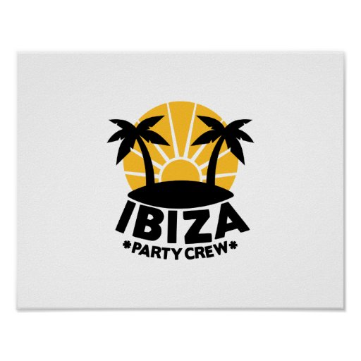 Ibiza Party Crew Print
