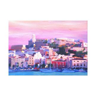 Ibiza Spain at sunset Canvas Print