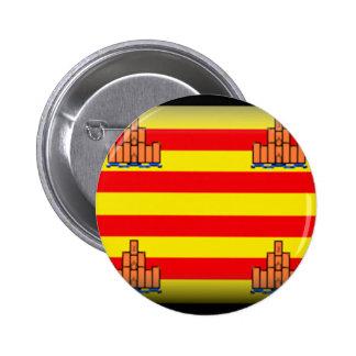 Ibiza Spain Flag Pinback Buttons