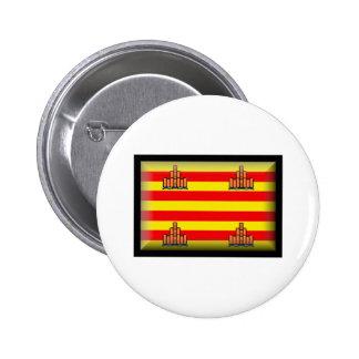 Ibiza Spain Flag Button
