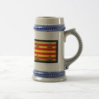Ibiza Spain Flag Coffee Mugs