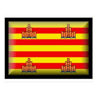 Ibiza (Spain) Flag Postcard