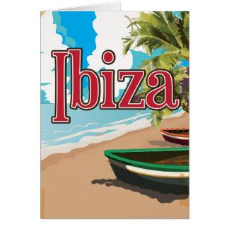Ibiza vintage travel poster greeting card