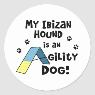 Ibizan Hound Agility Dog Round Sticker